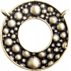 Brass Antique Connector Ring Eye Glass 26mm Bubble